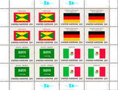 United Nations NY MNH 1985 Scott #450-#453 Flags: Grenada, Federal Republic Of Germany, Saudi Arabia, Mexico - New-York - Siège De L'ONU