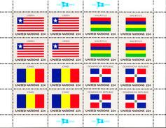 United Nations NY MNH 1985 Scott #458-#461 Flags: Liberia, Mauritius, Chad, Dominican Republic - New-York - Siège De L'ONU