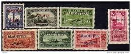 Alaouites N° 22 / 34 X Timbres De Syrie De 1925 Surchargés : La Série Des 13 Valeurs Charnière Moyenne Sinon TB