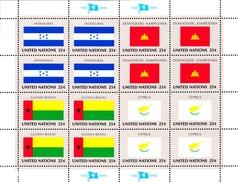 United Nations NY MNH 1989 Scott #562-#565 Flags: Honduras, Cambodia, Guinea-Bissau, Cyprus - New-York - Siège De L'ONU