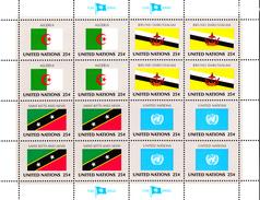 United Nations NY MNH 1989 Scott #566-#569 Flags: Algeria, Brunei, Saint Kitts And Nevis, United Nations - Neufs