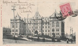 CANADA   QUEBEC    CPA   CITE  HALL  HOTEL DE VILLE - Québec - La Cité