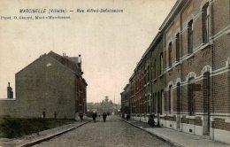 Marcinelle - Villette - Rue Alfred-Defuisseaux - Superbe Vue Couleur - Animée - Rare! - 2 Scans - Charleroi
