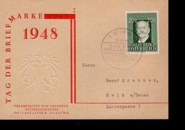 Österreich 855 Ziehrer Auf Sonderkarte Tag Der Briefmarke Used Gestempelt - 1945-.... 2. Republik