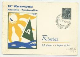 RIMINI - 18a RASSEGNA FILATELICO - NUMISMATICA   VIAGGIATA FG - Rimini