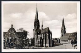 9984 - Alte Foto Ansichtskarte - Duisburg Rathaus Salvatorkirche Liebfrauenkirche - Wollstein  - N. Gel - TOP - Duisburg