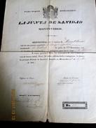 URUGUAY - 1841 Bill Of Health For SPAIN Bergantin Called LA GALLEGA Travelling From MONTEVIDEO To LA HAVANA - Documentos Históricos