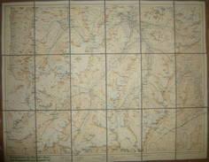 Wanderkarte Der Ötztaler Alpen Vom Kaunertal Bis Zum Passeier Tal - Maßstab 1:50'000 - 56cm X 72cm Auf Leinen Gezogen - - Landkarten