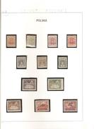POLOGNE  LEVANT POLONAIS  SERIE N°1/12  NEUF ** MNH   DE  1919 - Levant (Turquía)