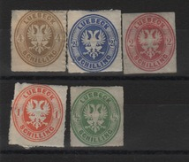 Allemagne -   Lubeck_ -  1863  Série 8/12 - Luebeck
