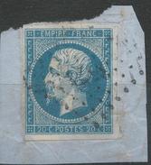 Lot N°33901  N°14A/fragment, Oblit PC 3575 VIERZON (17), Ind 2, Bonnes Marges - 1853-1860 Napoléon III
