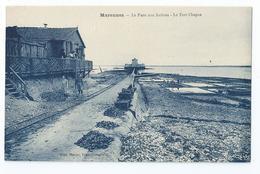 Cpa Bon Etat , Marennes ,   Le Parc Aux Huitres , Le Fort Chapus, Animation , Carte Rare - Marennes