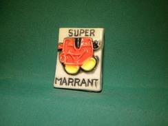 "Rare Fève Plate,Pub Magasins Super U  "" MARRANT "" Ex Unico .Prime 1993.   (A.6.7) - Oude"