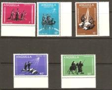 Anguilla 1968 SG 44-8 Christmas Unmounted Mint - Anguilla (1968-...)