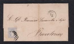 1870.- SEVILLA A BARCELONA - Cartas