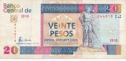BILLETE DE CUBA DE 20 PESOS CONVERTIBLES DEL AÑO 2006  (BANKNOTE) CAMILO CIENFUEGOS - Cuba