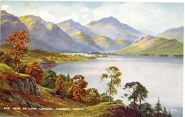 VALENTINES ART A952 - THE HEAD OF LOCH LOMOND LOOKING NORTH - E H THOMPSON - Inverness-shire