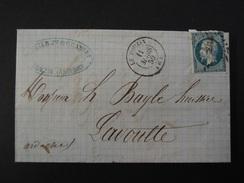 ARDECHE-Le Pouzin - 6-  PC 2566 Sur N° 14A (1859) - Postmark Collection (Covers)