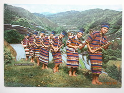Postcard Benguet Festival Dance [ Barangay Folk Troupe ]  Philippines PU 1975 By National Book Store Manila My Ref B220 - Philippines
