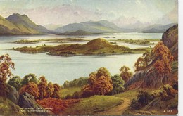 VALENTINES ART A953 - THE ISLANDS, LOCH LOMOND FROM CAMSTRADDEN HILL - E H THOMPSON - Inverness-shire