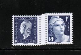 """Année 2015   N° 4986/4987       PAIRE MARIANNES GANDON ET DULAC   """" ISSUE  DU BLOC 1945-LA LIBERATION """" - France"""