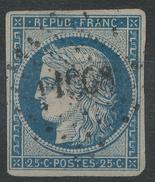 Lot N°33922  N°3, Oblit PC 1968 MERU (58), Ind 3, Belles Marges - 1849-1850 Ceres