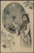 JEUNE FEMME MUSICIENNE 1912 - Illustrateurs & Photographes