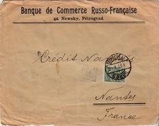 LETTRE COVER RUSSIA RUSSIE  2.7.16  BANQUE DE COMMERCE RUSSO-FRANCAISE PETROGRAD POUR FRANCE  SEE BACK - Briefe U. Dokumente