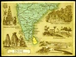 Chromo Etablissements Francais Dans L'inde Pondichery Chandernagor 2 Scans - Sonstige