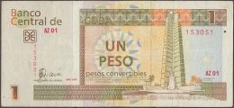 2006-BK-111 CUBA. BANCO NACIONAL 2006 1 Cuc. REPLACEMENT REEMPLAZO AZ - Cuba