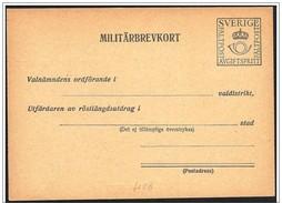 Svezia/Suède/Sweden: Intero, Stationery, Entier, Franchigia Militare, Free Military, Franchise Militaire - Militari
