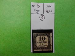 FRANCE.TIMBRE TAXE N°2.OBL.CATALOGUE YVERT. - 1859-1955 Oblitérés