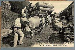 65 - HAUTES-PYRENEES - LUCHON - TRANSPORT DU BOIS - France
