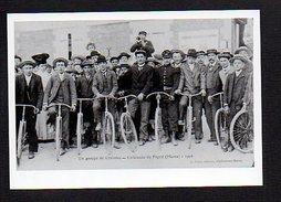 51  Cavalcade De Pogny 1906 / Un Groupe De Cyclistes / Photo Copie Print (fond Neudin ) - Autres Communes