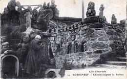 Rotheneuf. Côte D'Emeraude. L'Ermite Sculptant Les Rochers - Rotheneuf