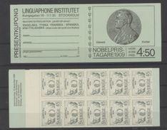 Suède Nobel Kocher Ostwald Rutherford Booklet