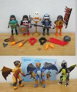 PLAYMOBIL : Lot De 4 Chevaliers Et De 3 Dragons Avec Accessoires - Playmobil