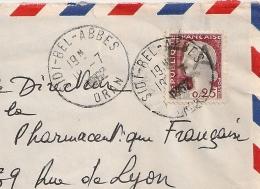 EA Sur Decaris  De SIDI BEL ABBES Oran Algérie Sur Enveloppe Du 19/7/1962. - Algérie (1962-...)
