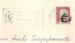 EA à Cheval Sur Decaris  De SIDI BEL ABBES Oran Algérie Sur Enveloppe . - Algérie (1962-...)