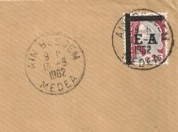 EA TYPO Sur Decaris, AIN BESSEM MEDEA Algérie Sur DEVANT D'enveloppe. - Algérie (1962-...)