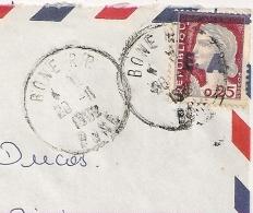 EA En BLEU Foncé Sur Decaris, BONE R.P. Algérie Sur Enveloppe. 28/11/1962 - Algérie (1962-...)