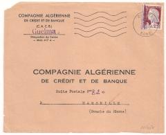 EA En VIOLET Sur Decaris, GUELMA  BONE Algérie Sur DEVANT D'enveloppe. 17/8/1962 - Algérie (1962-...)