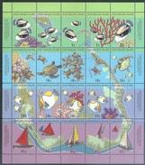 Cocos Islands 1994   Sc#292f  Marine Life Sheet Of 20    MNH**  2016 Scott Value $11 - Islas Cocos (Keeling)
