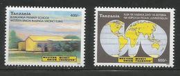 2004 Tanzania Western Union Money Transfers Complete Set Of 4 And Souvenir Sheet MNH - Tanzania (1964-...)