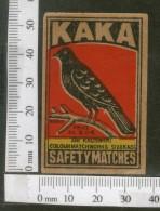 India 1950's Bird Crow Brand Match Box Label Animal # MBL194 - Matchbox Labels