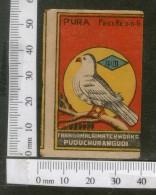 India 1950's Bird Dove Brand Match Box Label Animal # MBL172 - Matchbox Labels