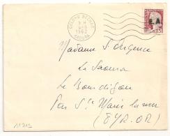 EA Sur DECARIS, COLOMB BECHAR SAOURA Algérie Sur Enveloppe Pour La France Avec Texte. - Algérie (1962-...)