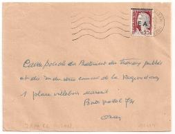 EA Sur DECARIS, DRAA EL MIZAN TIZI OUZOU Algérie Sur Enveloppe. - Algérie (1962-...)