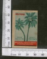 India 1950's Coconut Tree Kalpaka Brand Match Box Label # MBL240 - Matchbox Labels