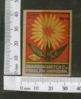 India 1950's Flower Flora Brand Match Box Label # MBL032 - Matchbox Labels